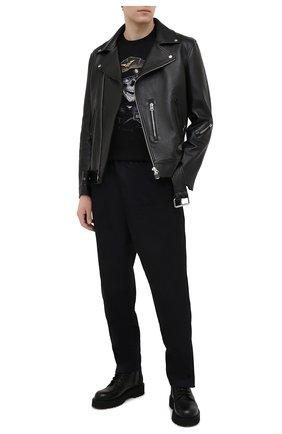 Мужская хлопковая футболка HARLEY-DAVIDSON черного цвета, арт. R003779 | Фото 2 (Материал внешний: Хлопок; Рукава: Короткие; Стили: Панк; Длина (для топов): Стандартные)