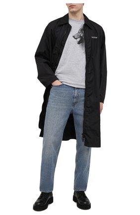 Мужская хлопковая футболка HARLEY-DAVIDSON серого цвета, арт. R003784 | Фото 2 (Рукава: Короткие; Стили: Панк; Материал внешний: Хлопок; Длина (для топов): Стандартные)