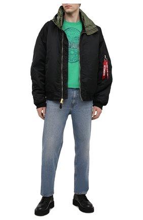 Мужская хлопковая футболка HARLEY-DAVIDSON зеленого цвета, арт. R003785 | Фото 2 (Рукава: Короткие; Материал внешний: Синтетический материал, Хлопок; Стили: Кэжуэл; Длина (для топов): Стандартные)