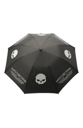 Мужской складной зонт HARLEY-DAVIDSON черного цвета, арт. UMB119988 | Фото 1
