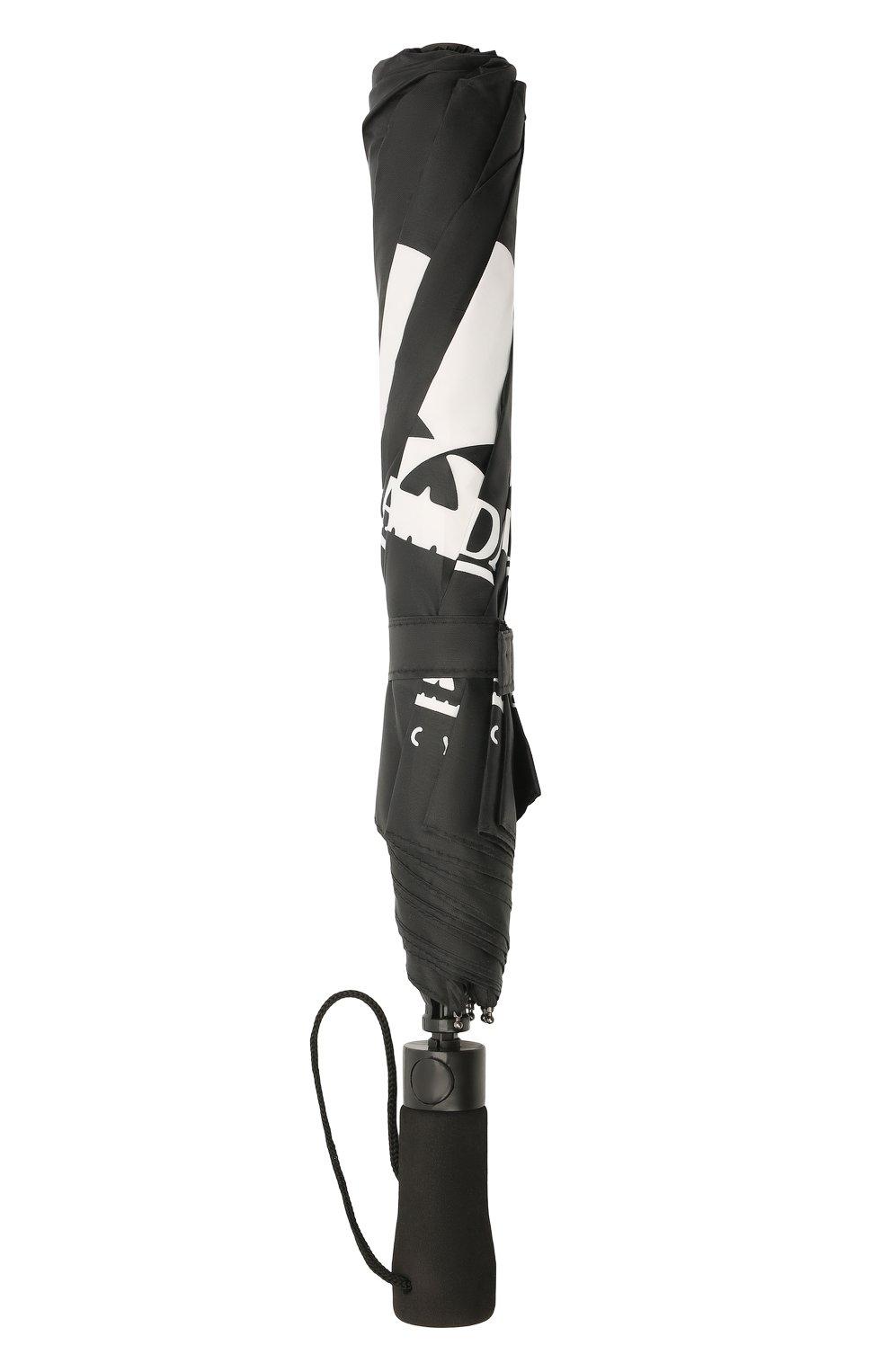 Мужской складной зонт HARLEY-DAVIDSON черного цвета, арт. UMB119988   Фото 4 (Материал: Текстиль)