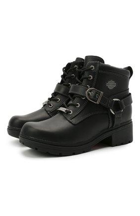 Женские кожаные ботинки HARLEY-DAVIDSON черного цвета, арт. D84424 | Фото 1