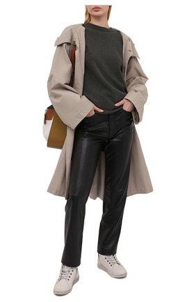 Женские кожаные кеды HARLEY-DAVIDSON кремвого цвета, арт. D84635 | Фото 2