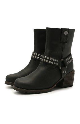 Женские кожаные сапоги HARLEY-DAVIDSON черного цвета, арт. D84670 | Фото 1