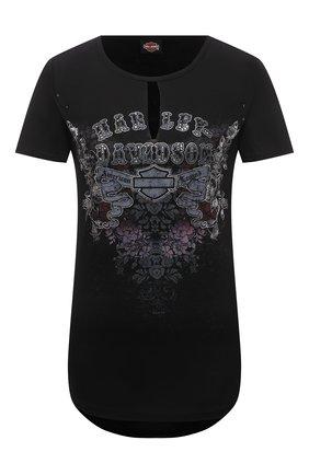Женская футболка HARLEY-DAVIDSON черного цвета, арт. R003813 | Фото 1