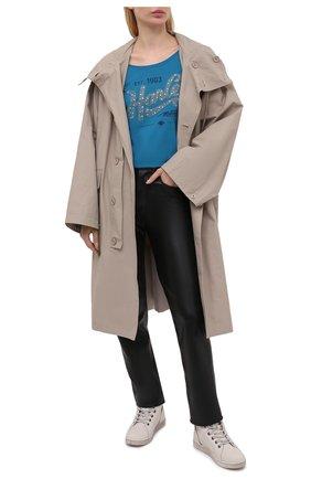Женская хлопковая футболка HARLEY-DAVIDSON синего цвета, арт. R003822 | Фото 2