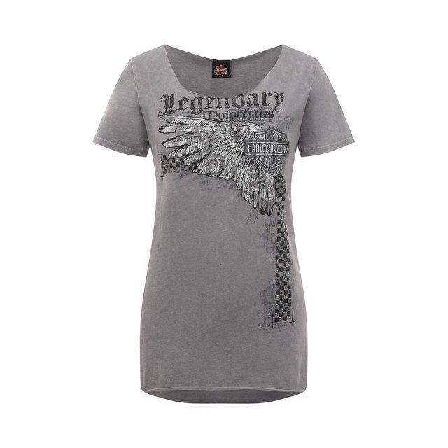 Хлопковая футболка Harley-Davidson