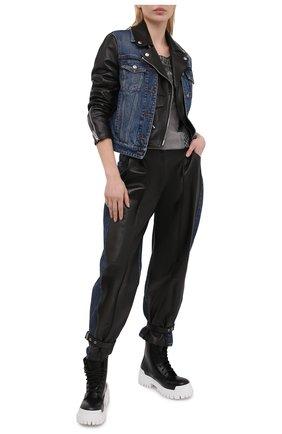 Женская хлопковая футболка HARLEY-DAVIDSON серого цвета, арт. R003823 | Фото 2