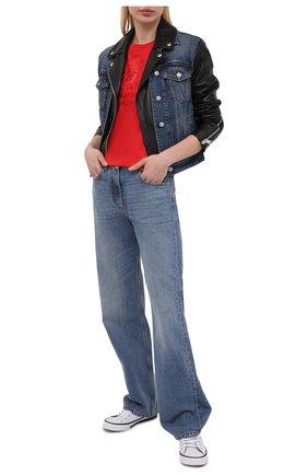 Женская хлопковая футболка HARLEY-DAVIDSON красного цвета, арт. R003824 | Фото 2