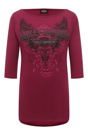 Женская хлопковая футболка HARLEY-DAVIDSON розового цвета, арт. R003834 | Фото 1