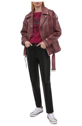 Женская хлопковая футболка HARLEY-DAVIDSON розового цвета, арт. R003834 | Фото 2
