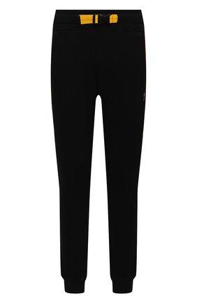Мужские хлопковые джоггеры PARAJUMPERS черного цвета, арт. XF03/C0LLINS   Фото 1