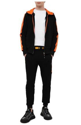 Мужской хлопковая толстовка PARAJUMPERS черного цвета, арт. XF02/ALDRIN | Фото 2