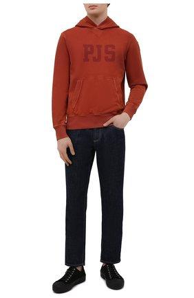 Мужской хлопковое худи PARAJUMPERS красного цвета, арт. CK10/L0RN CRK | Фото 2