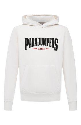 Мужской хлопковое худи PARAJUMPERS белого цвета, арт. CF15/WALD0 | Фото 1