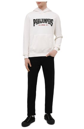 Мужской хлопковое худи PARAJUMPERS белого цвета, арт. CF15/WALD0 | Фото 2