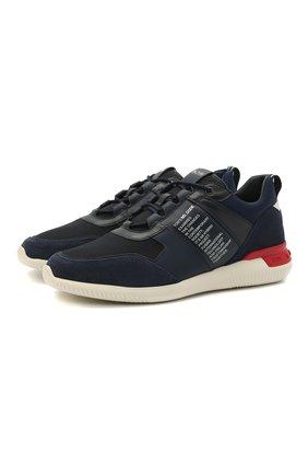 Мужские комбинированные кроссовки no code TOD'S темно-синего цвета, арт. XXM91B0EL61Q7X | Фото 1 (Материал внутренний: Натуральная кожа; Стили: Спорт; Материал внешний: Кожа; Подошва: Массивная)