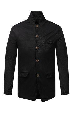 Мужская кожаная куртка GIORGIO BRATO черного цвета, арт. GU21S9616VBRUSH | Фото 1