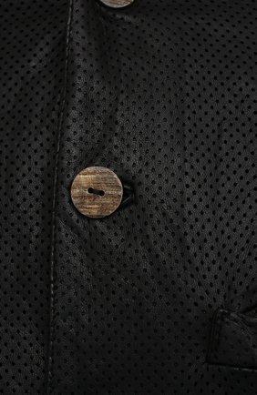 Мужская кожаная куртка GIORGIO BRATO черного цвета, арт. GU21S9616HL136 | Фото 5 (Кросс-КТ: Куртка; Рукава: Длинные; Стили: Гранж; Мужское Кросс-КТ: Кожа и замша; Длина (верхняя одежда): Короткие; Материал подклада: Хлопок)