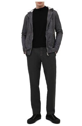 Мужская кожаная куртка GIORGIO BRATO темно-серого цвета, арт. GU21S8212VBRUSH | Фото 2