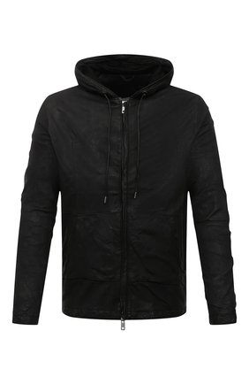 Мужская кожаная куртка GIORGIO BRATO черного цвета, арт. GU21S8212VBRUSH | Фото 1