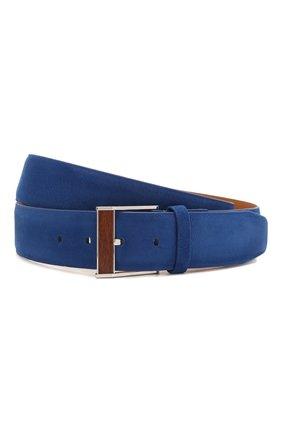Мужской кожаный ремень ZILLI синего цвета, арт. MJL-CLAQE-01980/0057/115-120 | Фото 1
