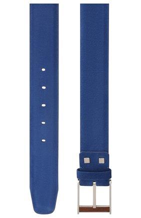 Мужской кожаный ремень ZILLI синего цвета, арт. MJL-CLAQE-01980/0057/115-120 | Фото 2