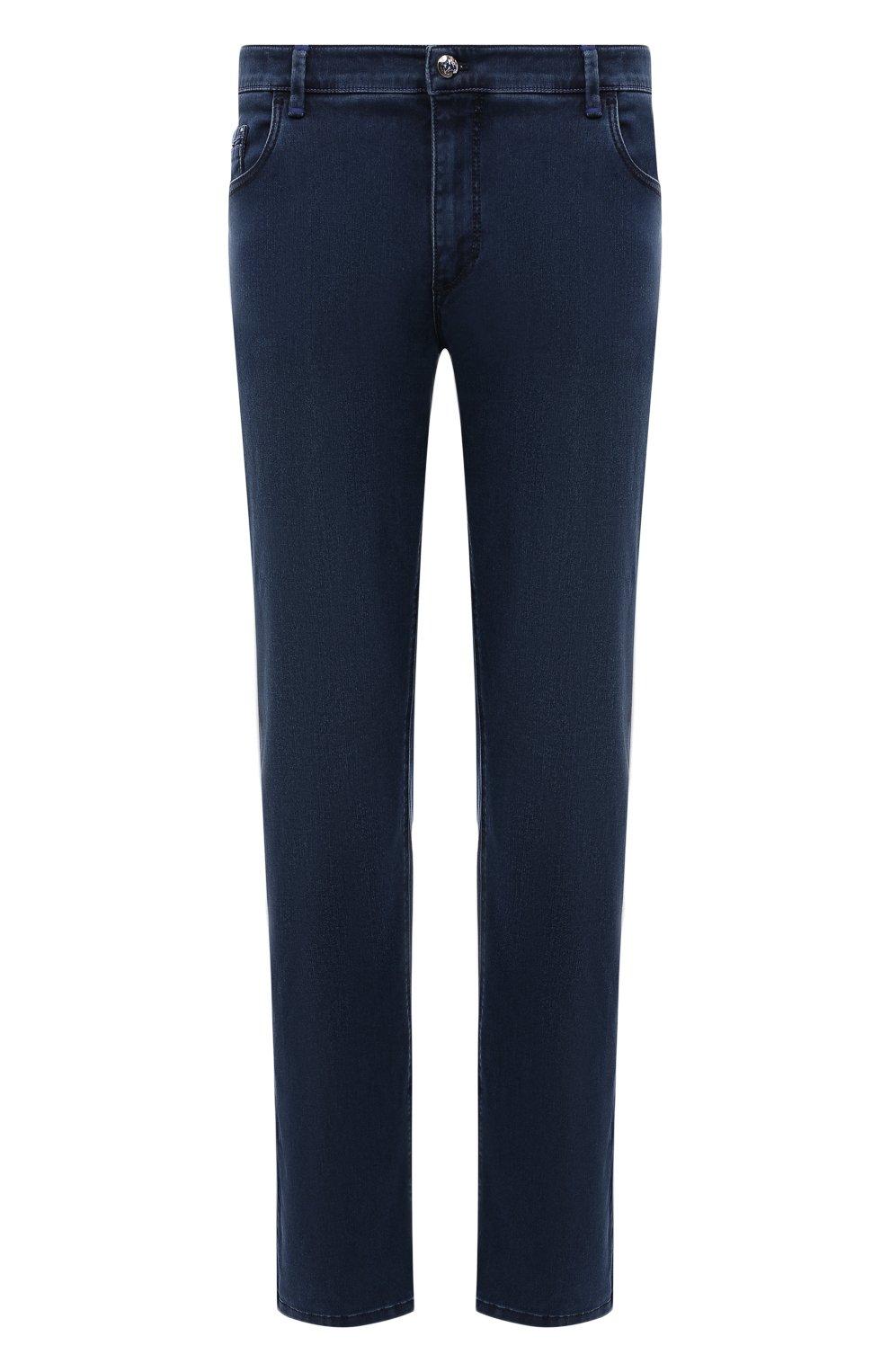 Мужские джинсы ZILLI синего цвета, арт. MCV-00090-DESA1/R001   Фото 1
