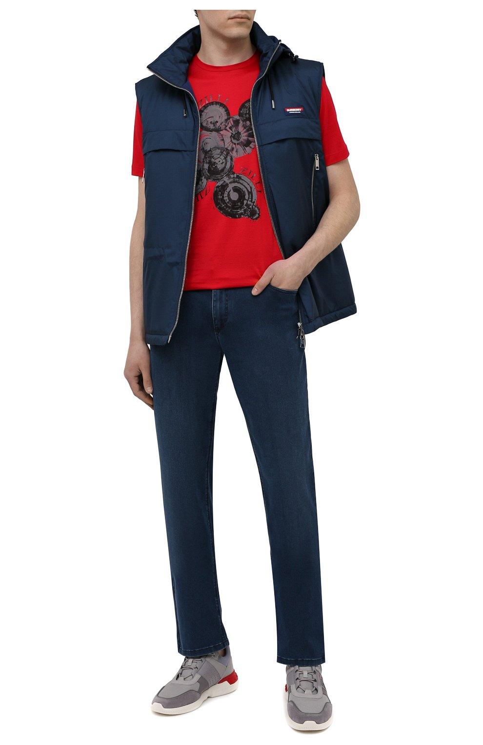 Мужские джинсы ZILLI синего цвета, арт. MCV-00090-DESA1/R001   Фото 2