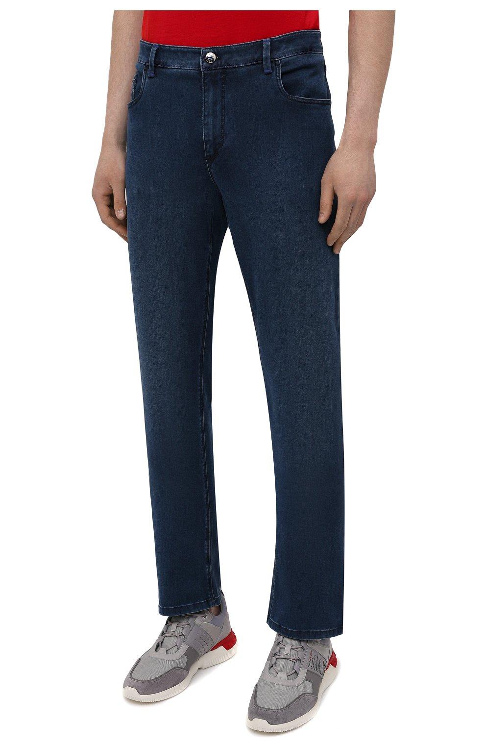 Мужские джинсы ZILLI синего цвета, арт. MCV-00090-DESA1/R001   Фото 3