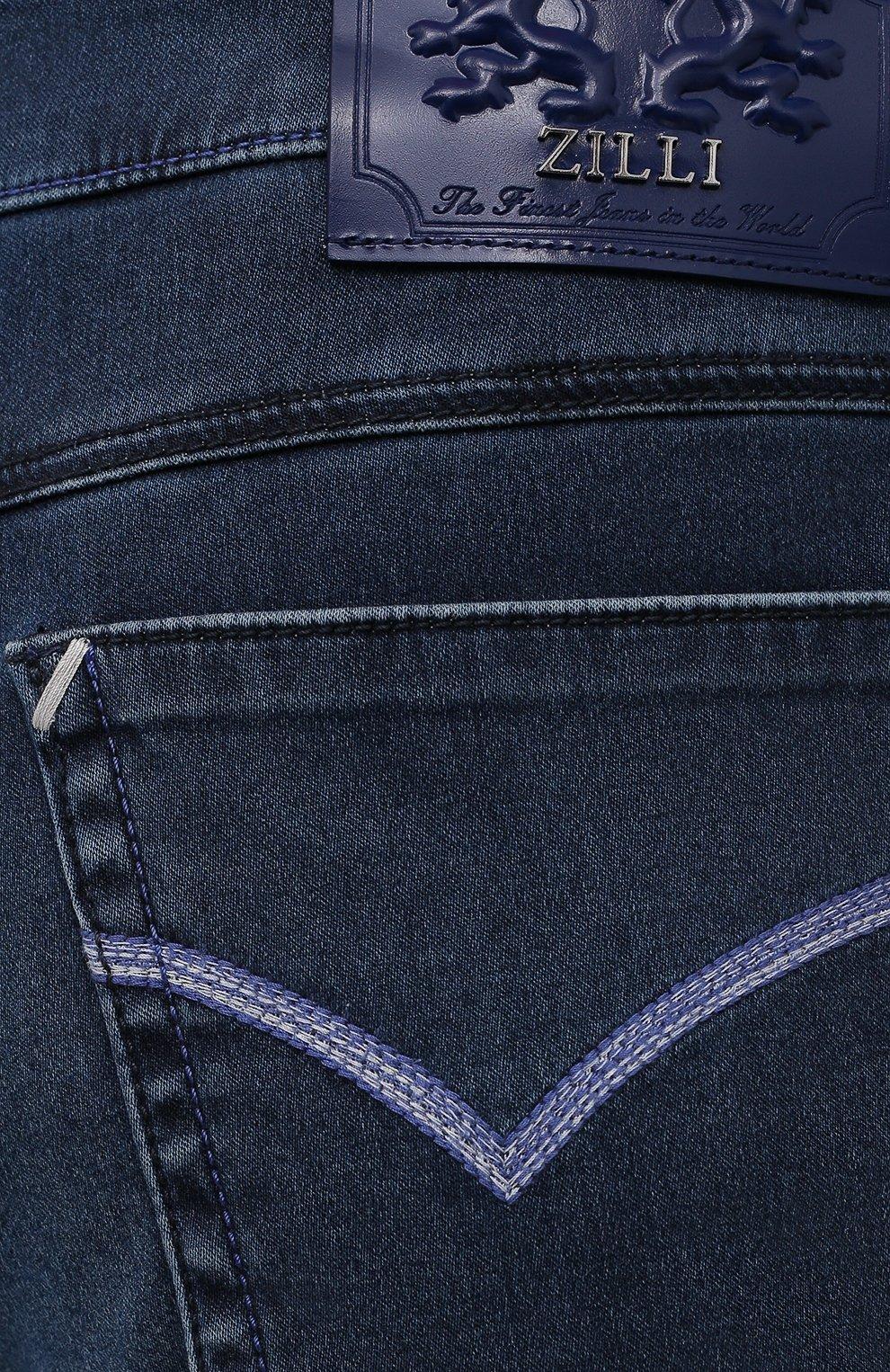 Мужские джинсы ZILLI синего цвета, арт. MCV-00090-DESA1/R001   Фото 5