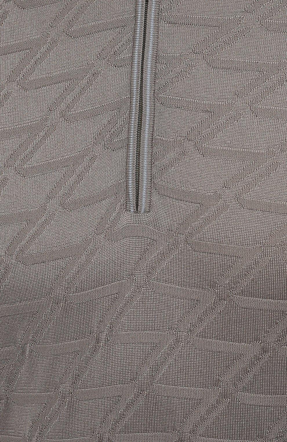 Мужское шелковое поло ZILLI серого цвета, арт. MBV-PZ032-ZSIL1/ML01   Фото 5