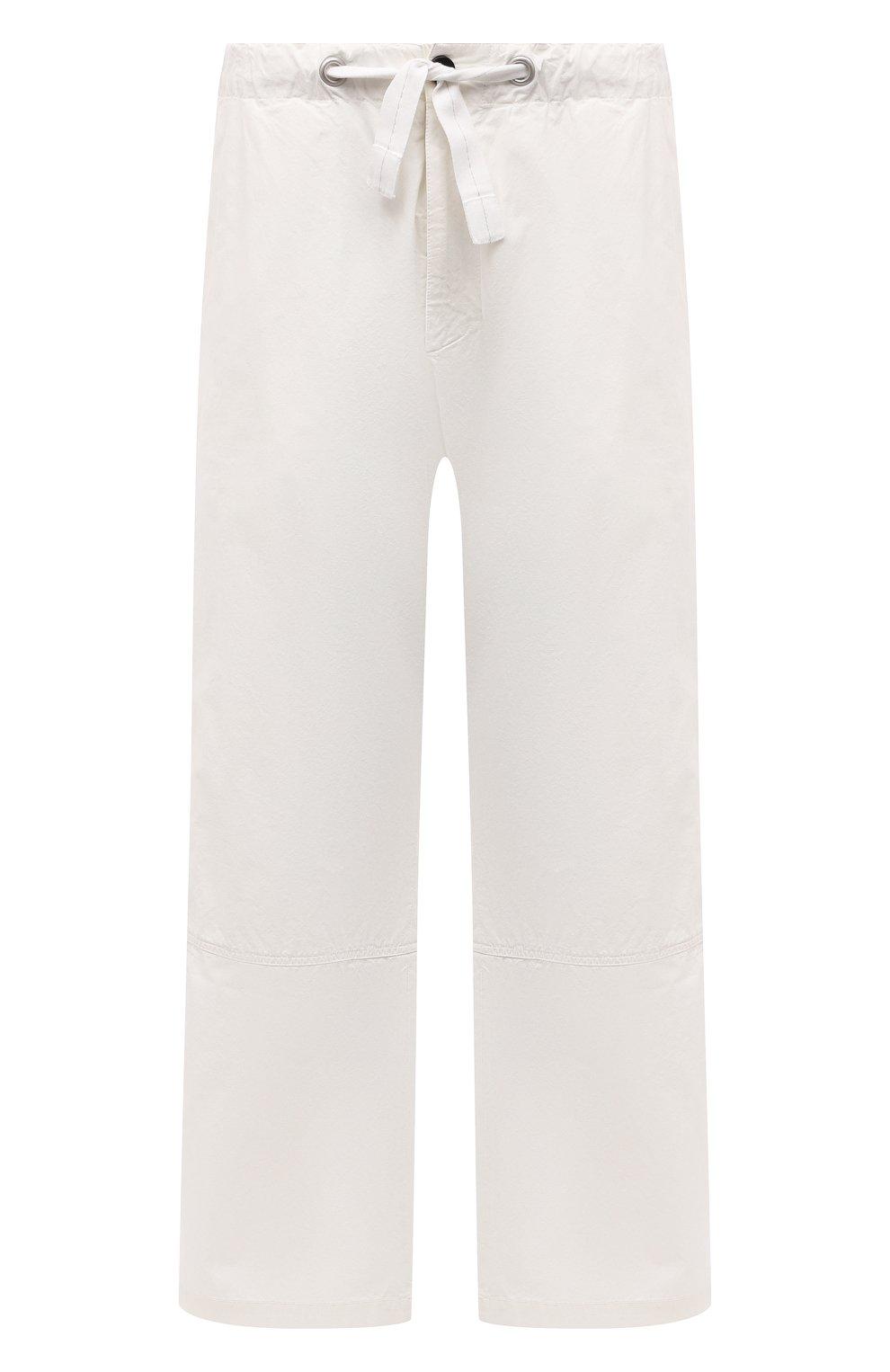 Мужские хлопковые брюки OAMC белого цвета, арт. 0AMS310833 0S240700   Фото 1 (Длина (брюки, джинсы): Стандартные; Случай: Повседневный; Материал внешний: Хлопок; Стили: Минимализм; Материал подклада: Хлопок)