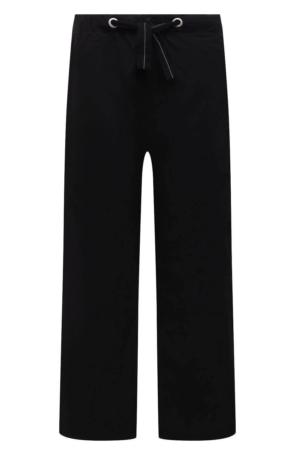 Мужские хлопковые брюки OAMC черного цвета, арт. 0AMS310833 0S240700   Фото 1 (Длина (брюки, джинсы): Стандартные; Случай: Повседневный; Материал внешний: Хлопок; Стили: Минимализм; Материал подклада: Хлопок)