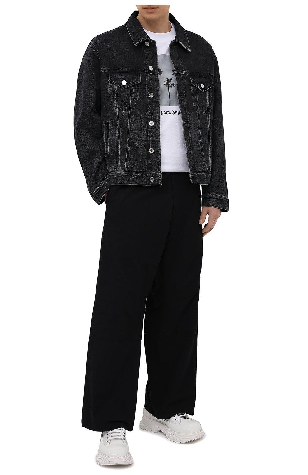 Мужские хлопковые брюки OAMC черного цвета, арт. 0AMS310833 0S240700   Фото 2 (Длина (брюки, джинсы): Стандартные; Случай: Повседневный; Материал внешний: Хлопок; Стили: Минимализм; Материал подклада: Хлопок)