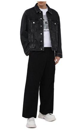 Мужские хлопковые брюки OAMC черного цвета, арт. 0AMS310833 0S240700 | Фото 2