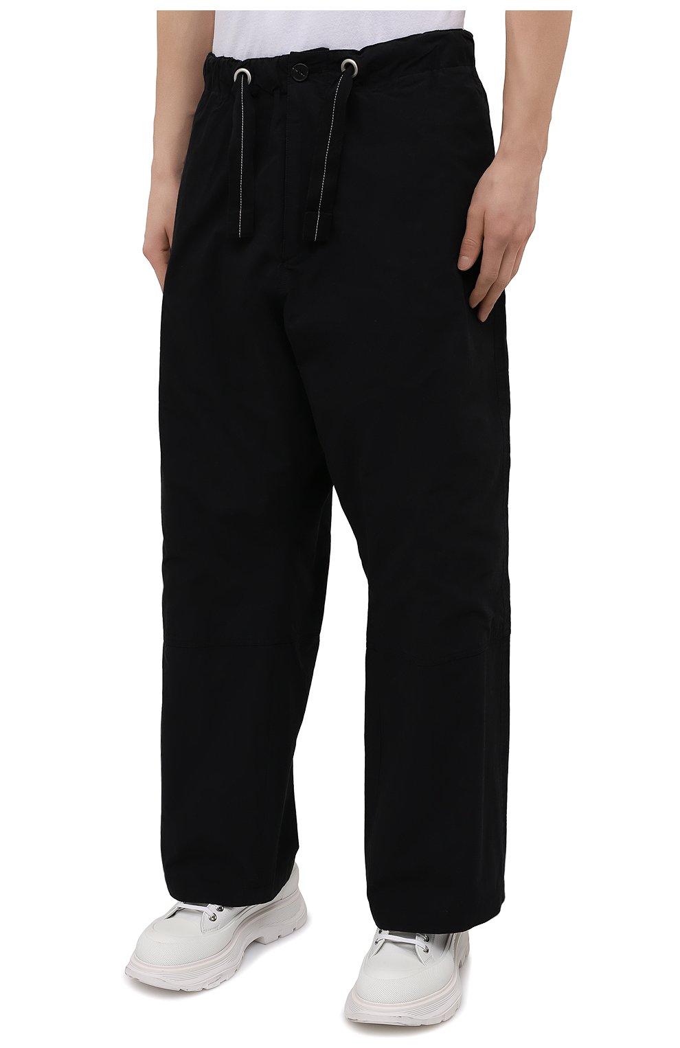 Мужские хлопковые брюки OAMC черного цвета, арт. 0AMS310833 0S240700   Фото 3 (Длина (брюки, джинсы): Стандартные; Случай: Повседневный; Материал внешний: Хлопок; Стили: Минимализм; Материал подклада: Хлопок)