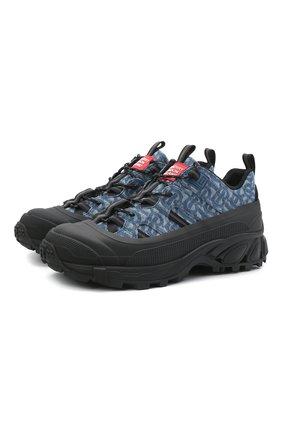 Мужские текстильные кроссовки arthur BURBERRY синего цвета, арт. 8039011 | Фото 1