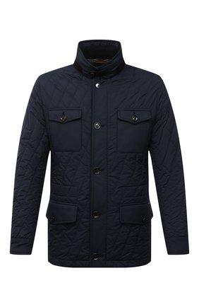 Мужская утепленная куртка laviani-trt MOORER синего цвета, арт. LAVIANI-TRT/M0UGI100075-TEPA032 | Фото 1 (Материал внешний: Синтетический материал; Длина (верхняя одежда): Короткие; Материал подклада: Синтетический материал; Кросс-КТ: Куртка; Рукава: Длинные; Стили: Классический; Мужское Кросс-КТ: пуховик-короткий)