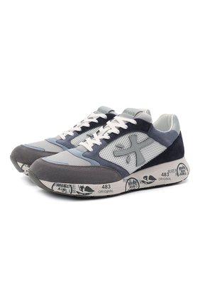 Мужские комбинированные кроссовки zac zac PREMIATA голубого цвета, арт. ZACZAC/VAR4613 | Фото 1