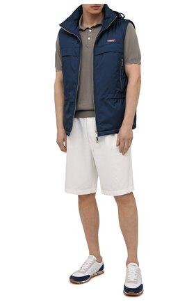 Мужские комбинированные кроссовки sean PREMIATA белого цвета, арт. SEAN/VAR5111 | Фото 2 (Материал внешний: Текстиль; Стили: Гранж; Материал внутренний: Натуральная кожа; Подошва: Плоская)