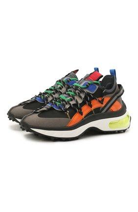 Мужские комбинированные кроссовки bubble DSQUARED2 разноцветного цвета, арт. SNM0152 11703752   Фото 1