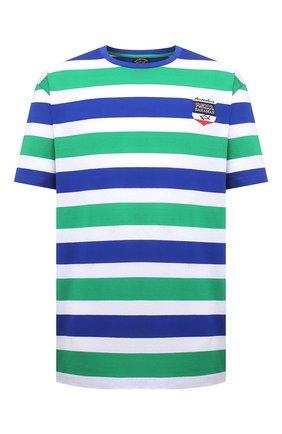 Мужская хлопковая футболка PAUL&SHARK разноцветного цвета, арт. 21411068/C00/3XL-6XL   Фото 1