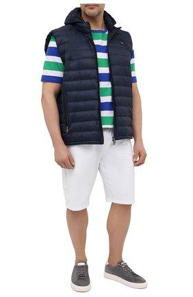 Мужская хлопковая футболка PAUL&SHARK разноцветного цвета, арт. 21411068/C00/3XL-6XL   Фото 2