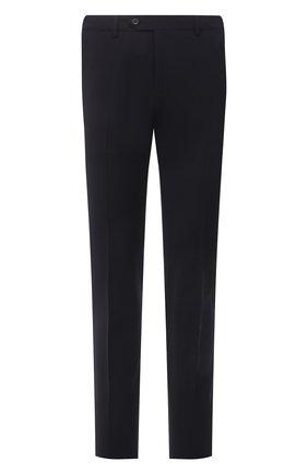 Мужские хлопковые брюки CORNELIANI темно-синего цвета, арт. 874B08-1118563/02 | Фото 1 (Длина (брюки, джинсы): Стандартные; Стили: Классический; Случай: Формальный; Материал внешний: Хлопок)