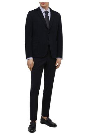 Мужские хлопковые брюки CORNELIANI темно-синего цвета, арт. 874B08-1118563/02 | Фото 2 (Длина (брюки, джинсы): Стандартные; Стили: Классический; Случай: Формальный; Материал внешний: Хлопок)