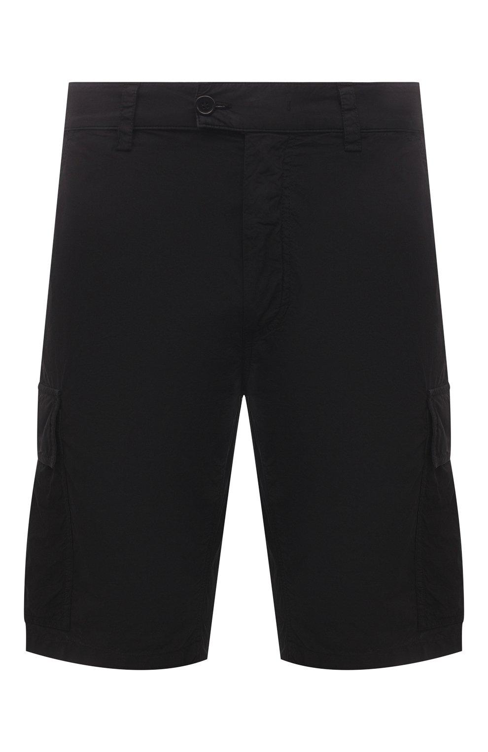 Мужские хлопковые шорты ASPESI черного цвета, арт. S1 A CQ31 G329 | Фото 1 (Мужское Кросс-КТ: Шорты-одежда; Длина Шорты М: До колена; Принт: Без принта; Материал внешний: Хлопок; Стили: Минимализм)