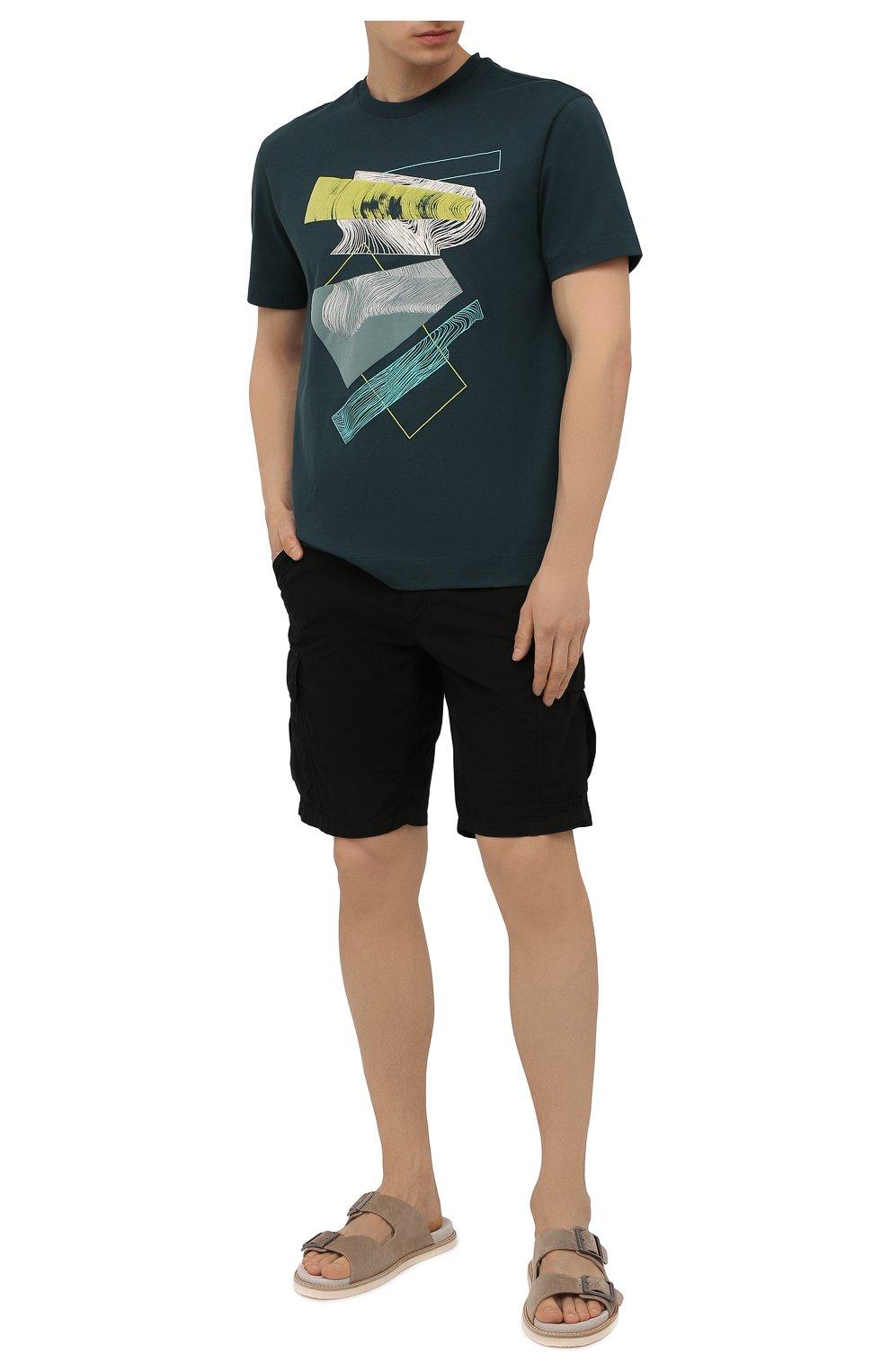 Мужские хлопковые шорты ASPESI черного цвета, арт. S1 A CQ31 G329 | Фото 2 (Мужское Кросс-КТ: Шорты-одежда; Длина Шорты М: До колена; Принт: Без принта; Материал внешний: Хлопок; Стили: Минимализм)