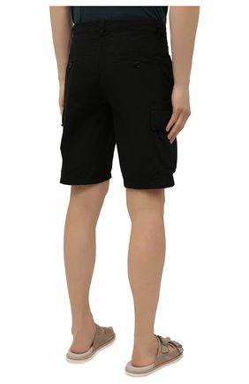 Мужские хлопковые шорты ASPESI черного цвета, арт. S1 A CQ31 G329 | Фото 4 (Мужское Кросс-КТ: Шорты-одежда; Длина Шорты М: До колена; Принт: Без принта; Материал внешний: Хлопок; Стили: Минимализм)