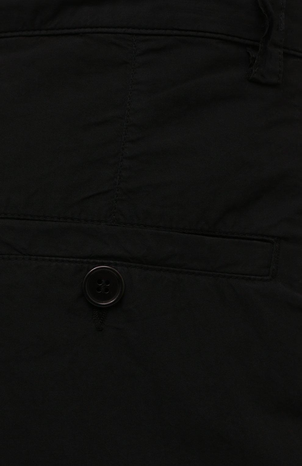 Мужские хлопковые шорты ASPESI черного цвета, арт. S1 A CQ31 G329 | Фото 5 (Мужское Кросс-КТ: Шорты-одежда; Длина Шорты М: До колена; Принт: Без принта; Материал внешний: Хлопок; Стили: Минимализм)